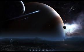 astronauta, Planeta, asteroida