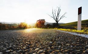 strada, cielo, paesaggio