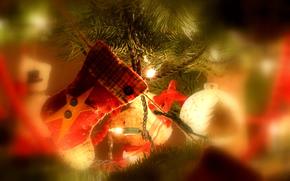 праздник, рождество, украшение