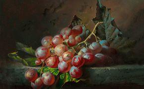 алексей антонов, живопись, искусство, grapes, nature