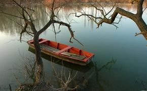 озеро,  лодка,  природа