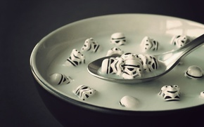 plate, spoon, soup