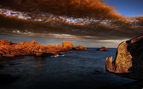 mare, Rocks, cielo, paesaggio
