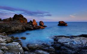 mare, pietre, paesaggio