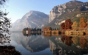 lago, Montagne, natura, paesaggio