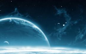 planeta, ambiente, Estrella