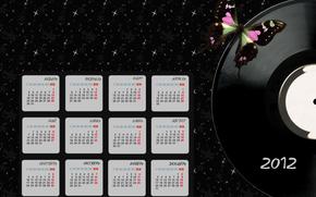 Calendrier 2012, papier peint, Style, calendrier de bureau
