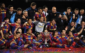 squadra, campioni, barcelona, tazza