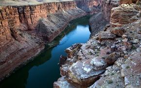 Montagne, fiume, natura, paesaggio