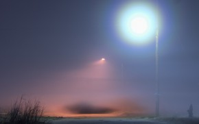 lantern, fog, lighting
