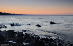海, 石头, 上午
