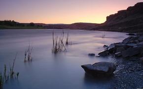 lake, zakt, sky, landscape