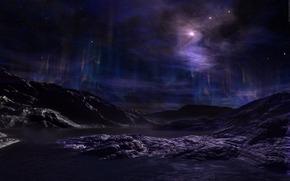 spazio, pianeta, galassia, stella