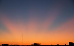 city, landscape, night city, sunset