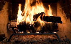 fuoco, camino, legna da ardere