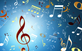 klucz wiolinowy, muzyka, wiato