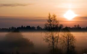 tramonto, cielo, natura, paesaggio