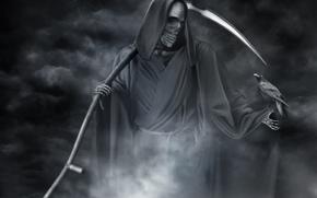 смерть, черно-белое, ворон