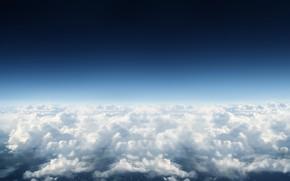 cielo, nuvole, cielo, blu