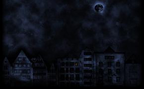 strada, tristezza, luna