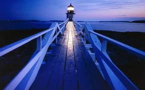 Maine, faro, tarde