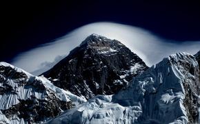 山, 天空, 云, 景观