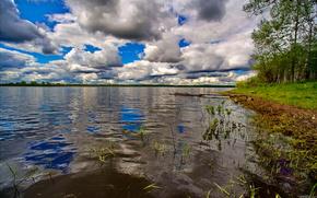 озеро,  небо,  природа,  пейзаж