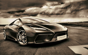 Car, Concept, neon, Tuning, cars, machinery, Car