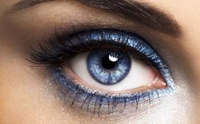 девушка, модель, сексуальная, красивая, глаз, зрачок, тени