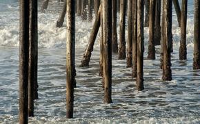 море,  природа,  опоры