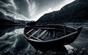barca, mare, costa