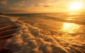 morze, wybrzee, wieczr, fale, pdzi