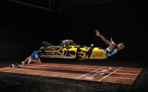 Sport, courir, machine
