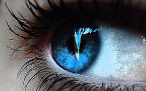 Глаз,  голубое,  ресницы