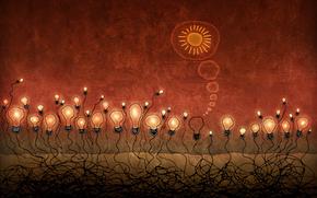 десктоп, толпа, люди, мысли, свет, светило, солнце, гений, антисоциальный, альтруизм, корни, жертва, красный