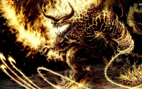 devil, Fantasy, fire