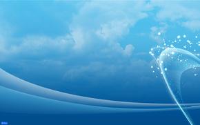 雲, ライン, 紺碧