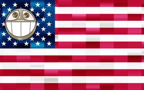 Barack Obama, 44 Presidente, sonrer, positiva, smbolo, bandera, EE.UU., graffitis boceto, agitacin, cuatro aos