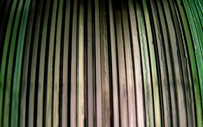 доски, забор, цветные, зеленый, серый, полосы, полоски