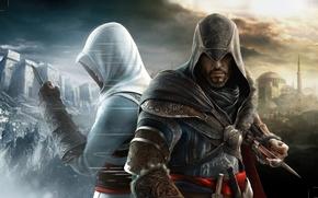 Ezio, Altair, Hagia Sophia, creed, Assassin, Masiaf