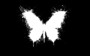 black, white, blot, paint, butterfly, accident, good luck, style