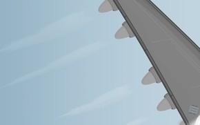 крыло, турбины, вектор