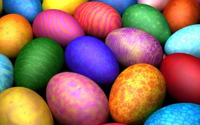 eggs, Easter, color, pattern