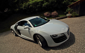 Audi R8, V10, sunny, day, street, cars, machinery, Car