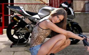 HONDA, VTR SP1, Graceful, Girl, Motaki, motorbike, Honda, cars, machinery, Car