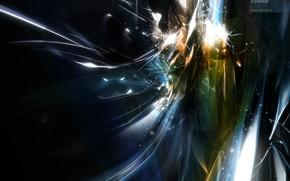 взрыв, энергия, поток, искры