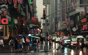 city, street, Pedestrians