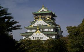 Осака,  замок,  Япония
