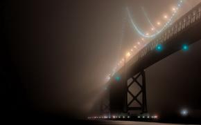 туман,  над,  мостом,  Сан-Франциско