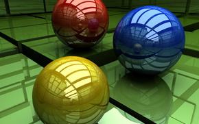ボール, 反射, 輝く